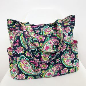 VERA BRADLEY Petal Paisley Pleated Large Tote Bag